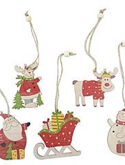 abordables -adornos de madera 5 navidad