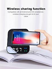 economico -wireless 5w caricabatterie bluetooth altoparlante sveglia 4000 mah banca di potere micro usb supporto di ricarica rapida per telefono