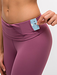 cheap -Women's Running Tights Leggings Compression Pants Athletic Base Layer Tights Leggings with Phone Pocket Elastane Running Walking Jogging Training Tummy Control Butt Lift Moisture Wicking Sport Purple