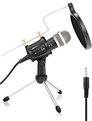 abordables -Con Cable Micrófono Micrófono Condensador Filtro pop X-01 3.5mm Jack para estudio de grabación y difusión Computadoras Portátiles y Laptops PC Teléfono Móvil