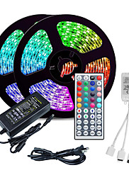 cheap -LOENDE 10M LED Strip Lights RGB Tiktok Lights 2835 SMD 600 LED String Tape 44 Key IR Remote control LED Ribbon Tape Under Cabinet Cupboard Decoration