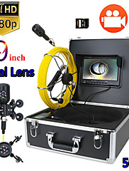 cheap -9inch DVR 50M 1080P HD Dual Camera Lens Drain Sewer Pipeline Industrial Endoscope Pipe Inspection Video Camera