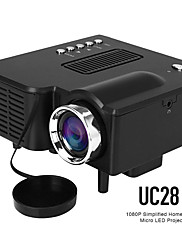 cheap -UC28 LED Mini Projector 320x240 Pixels Supports 1080P HDMI USB Audio Portable Projector Home Media Video Player Beamer UC28 VS YG300