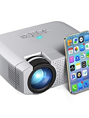 cheap -D40W LED Mini Projector Video Beamer for Home Cinema 1600 Lumens Support HD Wireless Sync Display For iPhone/Android Phone D40W
