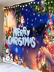 abordables -feliz navidad colgante de pared tapiz festival de navidad arte interior adorno de pared cabaña árbol hojas santa claus decoración