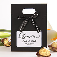 Round Square Creative Nonwoven Fabric Favor Holder with Ribbons Printing Favor Boxes Favor Bags - 12