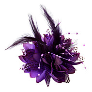 cheap -Crystal / Feather / Fabric Tiaras / Fascinators / Flowers with 1 Wedding / Special Occasion / Party / Evening Headpiece