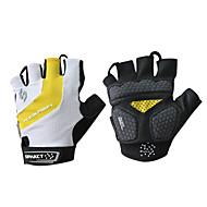 SPAKCT Cyklistické rukavice Horská cyklistika Prodyšné Protiskluzový Ter Emen Ochranný Bez prstů Poloviční prsty Akvitita a sport Bílá + žlutá pro Dospělé Outdoor