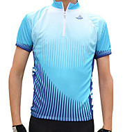 Jaggad Ανδρικά Κοντομάνικο Φανέλα ποδηλασίας Πολυεστέρας Πράσινο Μπλε Patchwork Ποδήλατο Αθλητική μπλούζα Μπολύζες Ποδηλασία Βουνού Ποδηλασία Δρόμου Αναπνέει Γρήγορο Στέγνωμα Αθλητισμός Ρούχα