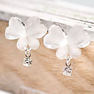 Women's Synthetic Diamond Drop Earrings Butterfly Animal Cheap Ladies Unique Design Simple Style Rhinestone Earrings Jewelry White For Party Daily