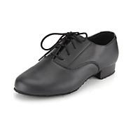 cheap -Men's Modern Shoes / Ballroom Shoes Faux Leather Lace-up Oxford Lace-up Low Heel Non Customizable Dance Shoes Black / EU43
