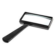 ec626d32adfd 6X Rectangle Handheld Magnifying Glass Magnifier Microscope Plastic Black