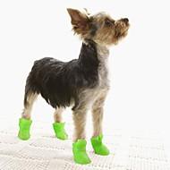 Hunde Hunderstøvler / hundesko Gummistøvler Vandtæt Helfarve Sød Stil For kæledyr Silikone Gummi PVC Sort