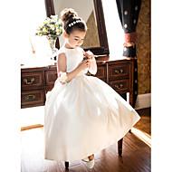 povoljno -Princeza / A-kroj Do sredine lista Vjenčanje / Prva pričest Cvjetne haljine za djevojčice - Saten Bez rukávů Ovalni izrez s Mašna / Nabrano