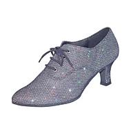 Dame Dansesko Kunstlær Moderne sko / Ballett / Treningssko Sandaler Tykk hæl Kan spesialtilpasses Grå / EU40