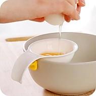 billige -mini eggeplomme hvit separator med silikonholder egg separator verktøy kjøkken