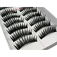 Eyelash Extensions False Eyelashes 20 pcs Volumized Curly Extra Long Fiber Daily Lengthens the End of the Eye - Makeup Daily Makeup Cosmetic Grooming Supplies