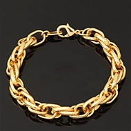 Women's Chain Bracelet Bracelet Bangles ID Bracelet Chunky Ladies Fashion Gold Plated Bracelet Jewelry Necklace / Bracelet / Necklace & Bracelet For Wedding Party Special Occasion Birthday Gift Daily