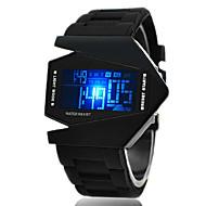 hesapli -Erkek Spor Saat Bilek Saati Dijital saat Dijital Alarm Silikon Siyah / Beyaz / Mavi Dijital - Beyaz Siyah Sarı Bir yıl Pil Ömrü / Takvim / Kronograf / LED / LCD / SSUO CR2025