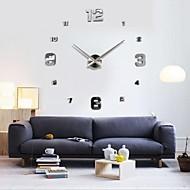 billige -frameless store diy vegg klokke, moderne 3d vegg klokke med speil tall klistremerker for kontor stue soverom kjøkken bar klokke plate