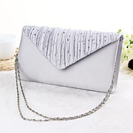 Women's Bags Silk Evening Bag for Event / Party Black / Silver / Beige / Wedding Bags