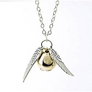 Women's Pendant Necklace Wings Ball guardian angel Ladies Fashion Alloy Silver Bronze Necklace Jewelry 1pc For Birthday Gift Daily Casual Sports