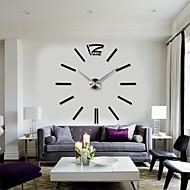 abordables -2015 nueva decoración del hogar reloj de pared digital grande diseño moderno grandes relojes de pared decorativos horas de pared regalo único