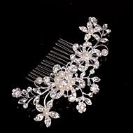 billige -Legering Hair Combs / Hovedtøj med Blomster 1pc Bryllup / Speciel Lejlighed / Afslappet Medaljon