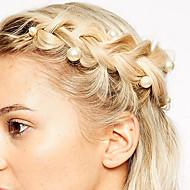 בגדי ריקוד נשים סיכות שיער עבור יומי דמוי פנינה סגסוגת 8# 12#