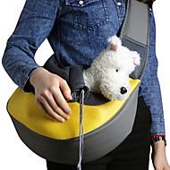 preiswerte -Katze Hund Transportbehälter &Rucksäcke Umhängetasche Sling Schultertasche Tragbar Atmungsaktiv Solide Stoff Kleiner Hund Purpur Gelb Blau