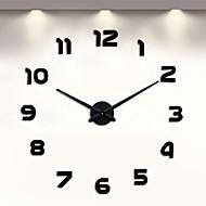 billige -frameless diy vegg klokke, 3d vegg klokke stor stum mur klistremerker for stue soverom hjem dekorasjoner (svart)