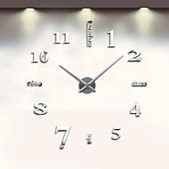 abordables -Contemporáneo moderno Acero inoxidable Redondo Interior AA Decoración Reloj de pared Analógico No / Movimiento de cuarzo