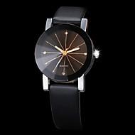 カップル用 リストウォッチ クォーツ ブラック クリエイティブ 模造ダイヤモンド ハンズ ファッション - ブラック 1年間 電池寿命 / SSUO 377