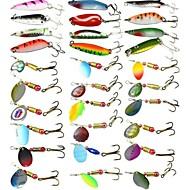 30 pcs Fishing Lures Hard Bait Spoons Metal Bait Fast Sinking Bass Trout Pike Sea Fishing Bait Casting Carp Fishing Hard Plastic / Lure Fishing / General Fishing / Trolling & Boat Fishing