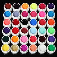 abordables -36solid pur mélange de paillettes couleur manucure nail art gel uv constructeur décor réglé nouvelle