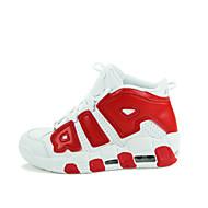 ราคาถูก -สำหรับผู้ชาย สำหรับผู้หญิง รองเท้า หนังเทียม ฤดูใบไม้ผลิ ตก บาสเกตบอล ลูกไม้ขึ้น สำหรับ ดำ ขาว แดง น้ำเงิน