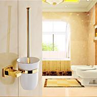 Toilet Brush Holder Neoclassical Brass 1 pc - Hotel bath