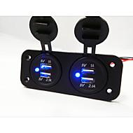 2 reiän paneeli kaksi USB-autolaturi pistorasia