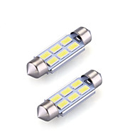 ieftine -2 buc 36mm Mașină Becuri 2 W SMD 5730 120 lm 6 LED Lumini de interior Pentru