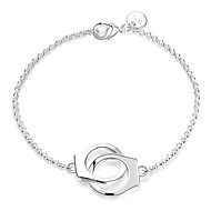 Women's Chain Bracelet Charm Bracelet Love knot Double Handcuff Locket Ladies Fashion Sterling Silver Bracelet Jewelry Silver For Wedding Party