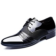 Men's Formal Shoes Patent Leather Spring / Fall Comfort Oxfords Black / Brown / Wedding / Party & Evening