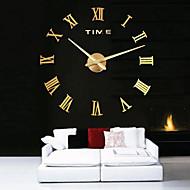 billige -overdimensjonert metall elektroplate hjem dekor diy runde vegg klokke