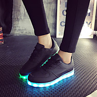 Women's Shoes Leatherette Spring / Summer / Fall Light Up Shoes Flat Heel Lace-up Black