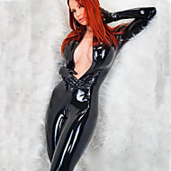 Women's More Costumes Sexy Uniforms More Uniforms Sex Zentai Suits Cosplay Costume Catsuit Solid Colored Leotard / Onesie / Leather