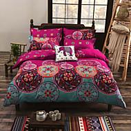Duvet Cover Sets Floral Cotton Reactive Print 4 PieceBedding Sets