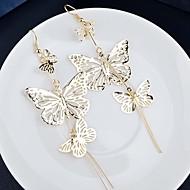 Women's Drop Earrings Classic Earrings Jewelry Gold / Black / Silver For Party 1pc