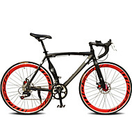 Road Bike Cycling 7 Speed 26 Inch / 700CC SHIMANO TX30 Double Disc Brake Ordinary Monocoque Ordinary / Standard Aluminium Alloy / #