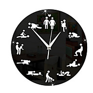 abordables -Redondo Moderno/Contemporáneo Reloj de pared,Familia Otros 28*28*3 cm (11.02*11.02*1.18 inch)