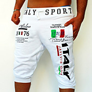 povoljno -Muškarci Aktivan Osnovni Sport Vikend Široke Sportske hlače Kratke hlače Hlače Slovo Print Obala Crn Plava M L XL