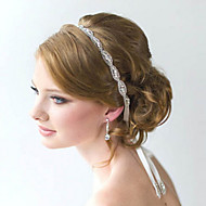 Full Crystal Flower Handmade Ribbon Satin Lace Up Headband for Wedding Party Lady Hair Jewelry